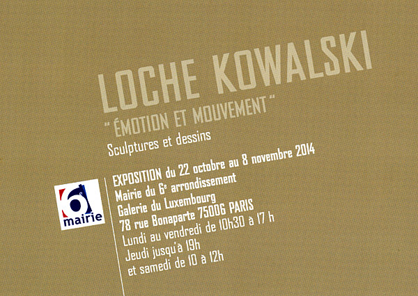 Invitation expo Paris 22 oct. - 8 nov. 2014 - Horaires